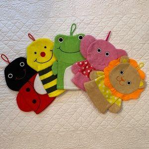 Animal Wash Cloth/Hand Puppet Set